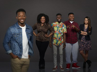 """The Mayor,"""" a comedy ABC will introduce this fall, stars Brandon Micheal Hall as Courtney Rose, East Cleveland native Yvette Nicole Brown as Dina Rose, Bernard David Jones as Jermaine Hardaway, Marcel Spears as T.K. Carter and Lea Michele as Valentina."""