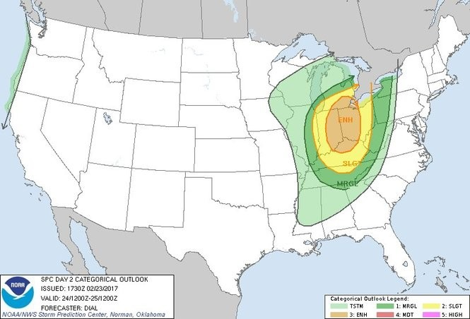 Friday's severe weather outlook.
