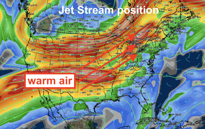The position of the jet stream dragged in hot, humid air into Northeast Ohio, kicking up chances of severe weather.