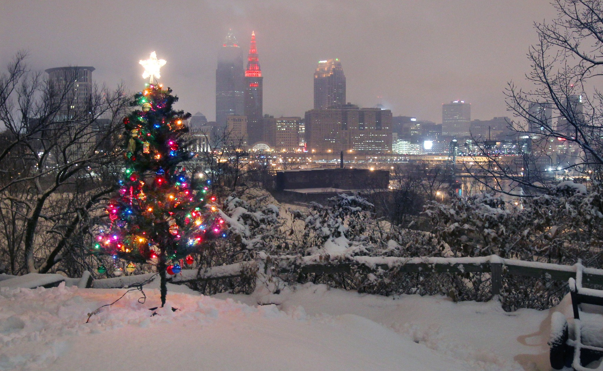 Cleveland Christmas.What S The Weather For Christmas In Cleveland An Early