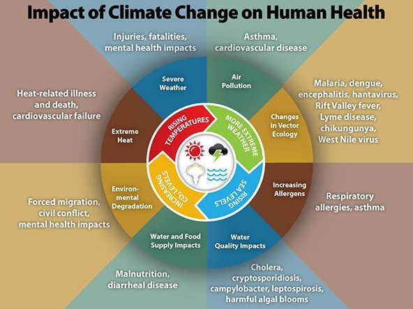 Climate change impacts on human health.