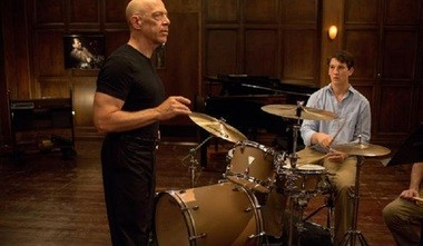 "J.K. Simmons and Miles Teller get ready to rumble in ""Whiplash."""