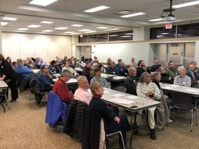 More than 70 people turned out at the CH-UH Main Library on Feb. 27 for the first public forum hosted by Citizens for an Elected Mayor. A followup meeting is set for 7 p.m. on March 14 at the Noble Library branch.