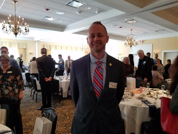 Joe Roszak, Chief Operating Officer for the Cleveland Metroparks, updates Rocky River Chamber members.
