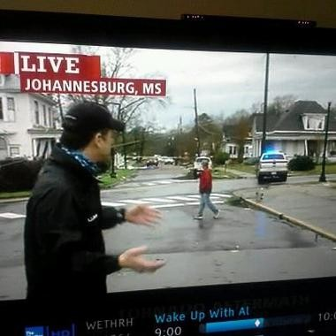 The Weather Channel referred to Hattiesburg as Johannesburg during its tornado coverage.