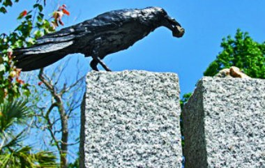 The now-missing crow, which was stolen from Keys Municipal Park in Ocean Springs over the weekend.