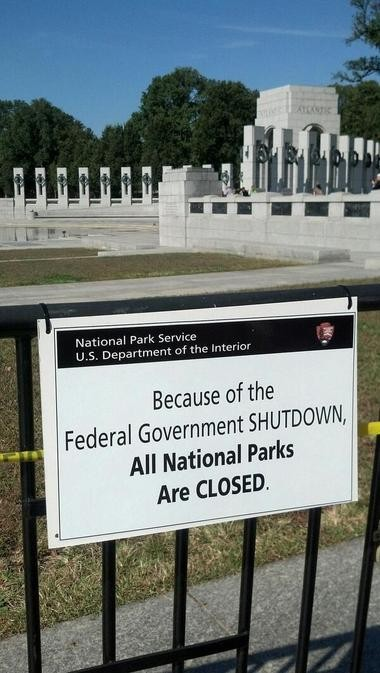 The sign blocking access to the World War II Museum in Washington. (April Havens / gulflive.com)