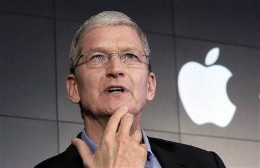 In this April 30, 2015, file photo, Apple CEO Tim Cook responds to a question during a news conference at IBM Watson headquarters, in New York. (AP file photo)