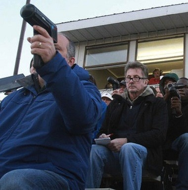 MLB scouts toting radar guns were a common sight at games started in 2014 by George County pitcher Justin Steele. (Chip English/GulfLive.com)