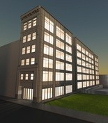 A rendering of what the Trifecta Building will look like once the former Schoen's Furniture Store building is redeveloped.