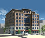 A rendering of the seven-story Three City Center.