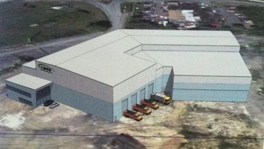 A rendering of Delta Thermo Energy's proposed waste-to-energy Allentown plant.