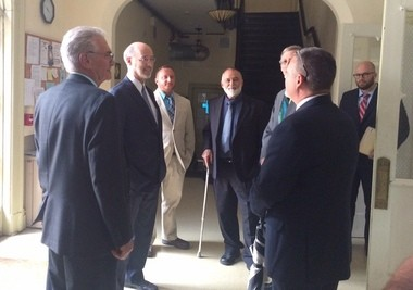 Pennsylvania Gov. Tom Wolf on July 18, 2016, visits Treatment Trends in Allentown. Treatment Trends is one of 20 addiction treatment programs designated as Centers of Excellence by the state for coordinating care for opioid addicts with Medicaid. (Sarah Cassi | For lehighvalleylive.com)