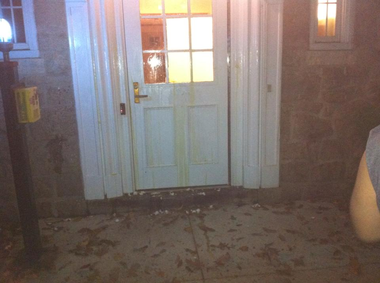 The UMOJA House residence Hall at Lehigh University was egged and spray painted, students say.