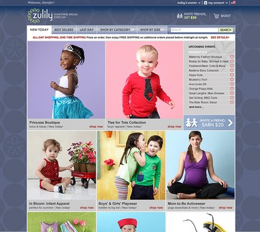 """Zulily describes itself as """"a retailer obsessed with bringing moms special finds every day -- all at incredible prices"""" featuring """"an always-fresh curated collection for the whole family, including clothing, home decor, toys, gifts and more."""""""