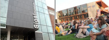 Easton's Sigal Museum, left, and Bethlehem's ArtsQuest Center at SteelStacks, right, are both in the running for American-Architects.com's Building of the Year.