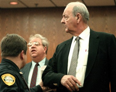 Former Warren County sheriff Edward Bullock, right, after his sentencing in 1992.