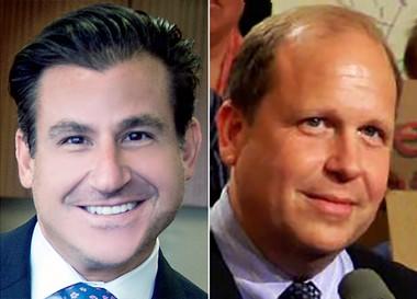 Pennsylvania Sens. Larry Farnese, left, and Daylin Leach have offered a recreational marijuana bill.