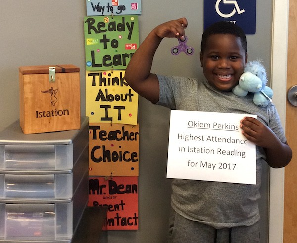 Okiem Perkins was one of two winners for the I-Station program at the Boys and Girls Club of Easton. (Courtesy photo)