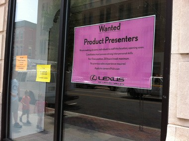 The Lexus Experience is coming to Downtown Easton for a pop-up run through the holidays. It's looking for product presenters.