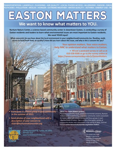 The Nurture Nature Center is distributing these posters around Easton.