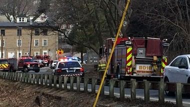Easton fire and police personnel initially responded Monday to a transformer failure on Lafayette College property. After some quick action, the city crews turned over the scene to campus officials.
