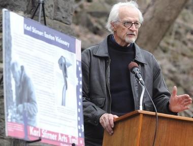 Karl Stirner speaks during news conference for the groundbreaking of the Karl Stirner Arts Trail in April 2011. (lehighvalleylive.com file photo)