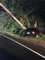 A man was struck by a car and injured in the early morning of Sept. 9, 2018, on Hackett Avenue in Palmer Township. The driver then crashed into a utility pole. (Courtesy photo for lehighvalleylive.com)