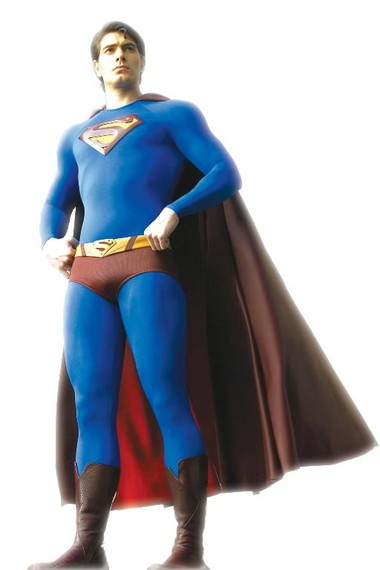 """Brandon Routh is shown as Superman in a promotional image for the 2006 film """"Superman Returns."""""""