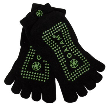 Gaiam's No-Slip Yoga Socks offer resistance and protection while you practice yoga and/or Pilates.