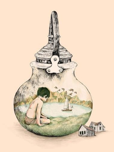 """Gabriella Barouch's illustration """"Boy"""""""