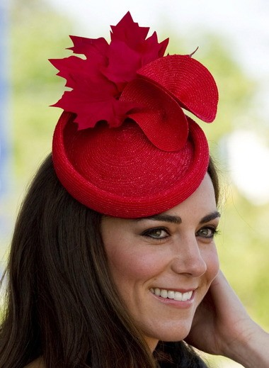 Kate Middleton sports a fascinator during a 2011 ceremony in Canada.