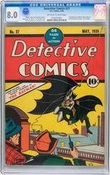 """Detective Comics"" No. 27, the first appearance of Batman."