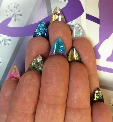 A western fingernail design by nail artist Naja Rickette.
