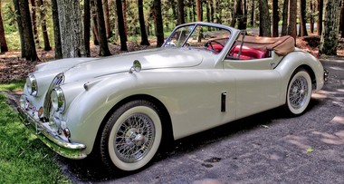 Clic Wheels 1957 Jaguar Xk 140 Drophead Coupe Is A Real Jaw on