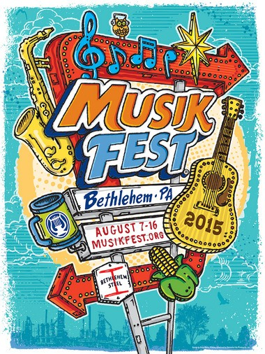 The 2015 Musikfest poster was created by artist Brian Barto, a native of Emmaus. (Courtesy Photo)