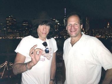 "Marky Ramone, left, poses with Richard Herschlag, of Palmer Township. Herschlag co-authored the former's new memoir, ""Punk Rock Blitzkrieg: My Life as a Ramone."""