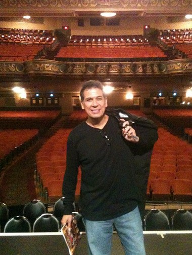 Comedian Bobby Collins is shown on stage at the State Theatre in Easton.
