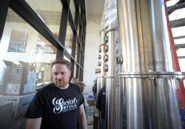 Owner Adam Flatt gives a tour in November 2014, of Bethlehem's Social Still, the Lehigh Valley's first craft distillery. County Seat Spirits in Allentown has since opened and at least three more are in the works.