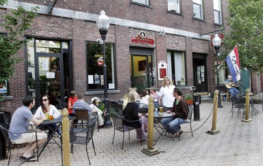 Customers Are Seen At The True Brew Barista In Concord NH A Gaggle Of Eateries