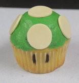 Mario Bros. 1-Up Mushroom Cupcake