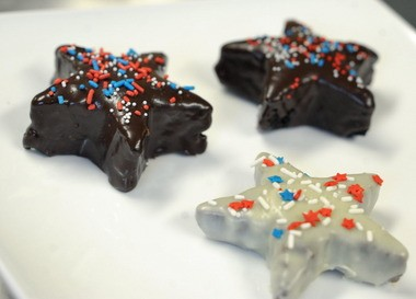 A coating of ganache and some festive sprinkles can jazz up the everyday brownie.