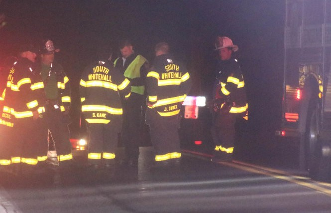 A person died the night of Oct. 21, 2018, after being struck by a hit-and-run vehicle in the 1700 block of Mauch Chunk Road in South Whitehall Township, police say. (Mike Nester   lehighvalleylive.com contributor)