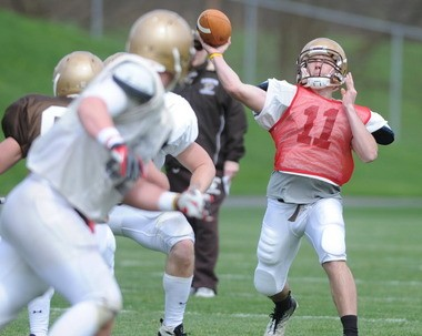 Quarterback Gerard Poutier (11) may be out of commission for Lehigh during training camp this year.