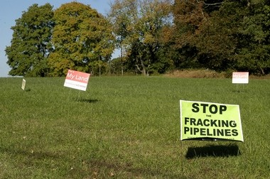 Lawn signs seen in October 2015 along Route 523 in Delaware Township, Hunterdon County, voice opposition to the proposed PennEast Pipeline. (Lehighvalleylive.com file photo)