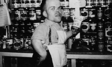 Bugen as a 15-year-old in his parents' corner store in Phillipsburg in 1930. (Photo courtesy of The Sager Group)