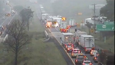 Fatal crash shuts Interstate 80 East in Monroe County