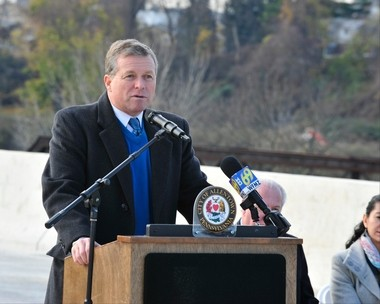 U.S. Rep. Charlie Dent speaks in November 2015 in Allentown. (Lehighvalleylive.com file photo)