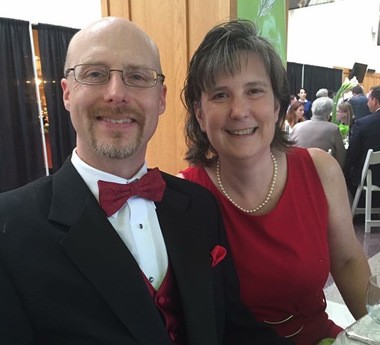 Ellen Link, shown with her husband Jason Link, is recovering from a massive stroke and running in a 5K this weekend.