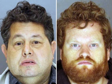 """Barry """"Bear"""" Schiff, left, 50, and Kenneth Crowell, 34, are charged with human trafficking and other offenses."""